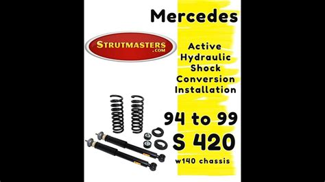How To Fix The Rear Suspension On A Mercedes S420 - YouTube