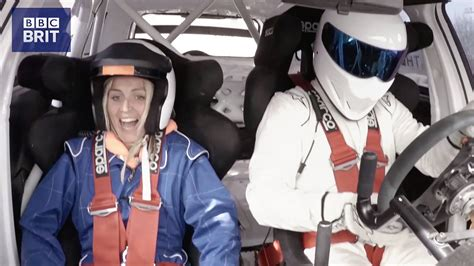 Therese Johaug rides with The Stig – BBC Brit launch in