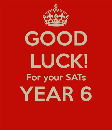 Year 6 SAT's Important Information