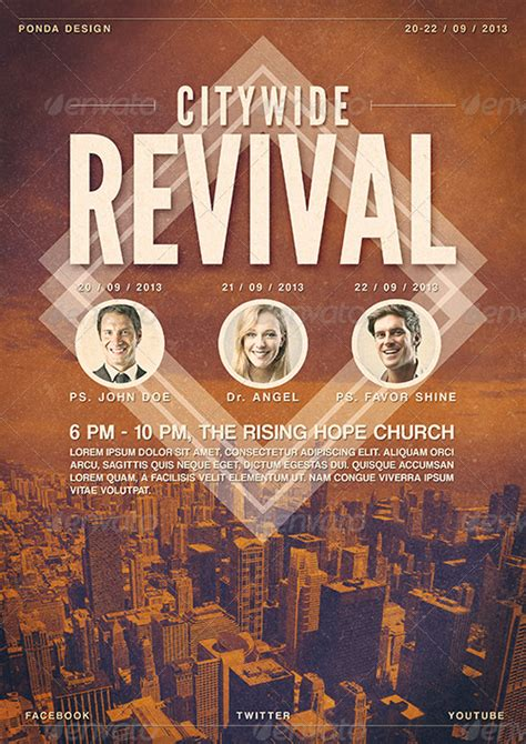 Citywide Revival Flyer/Poster Template by JunPonda