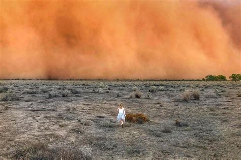Staggering images show apocalyptic dust and hail storms in