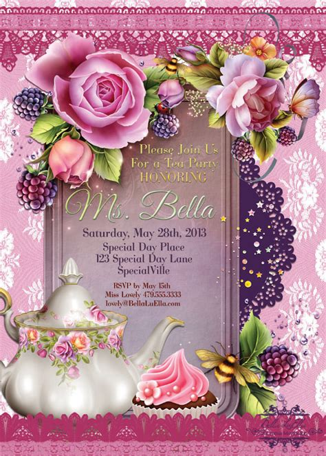 11 Tea Party Invitation Templates to Download   Sample
