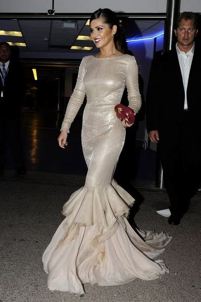 Cheryl Cole Cannes 2011 Glittering Long Sleeve Sequin