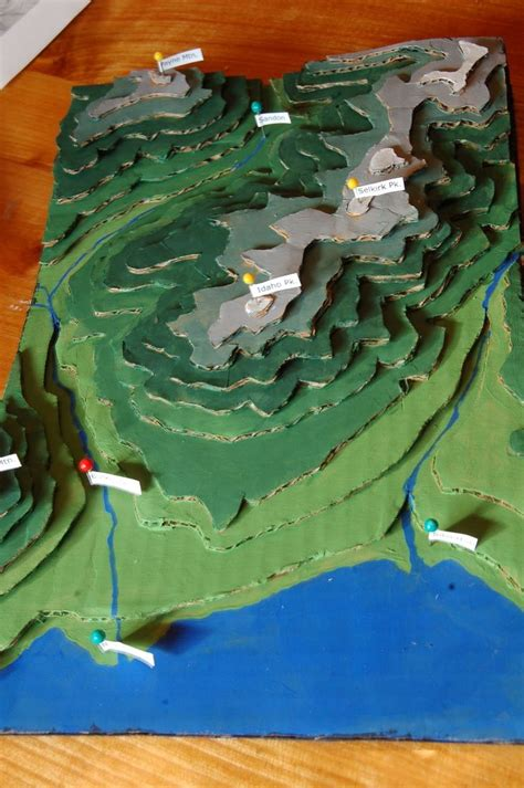 Make a cardboard 3D model of your area using local