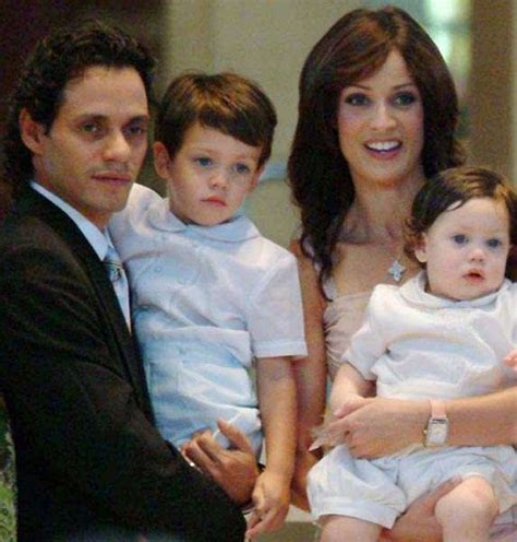Marc Anthony with first wife and their two sons