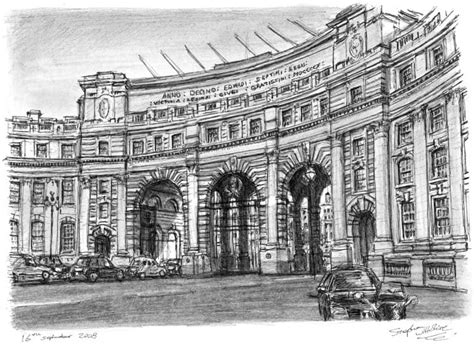 Admiralty Arch Whitehall - Original drawings, prints and