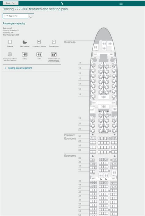 Boeing 777 300 Seating Chart Air New Zealand | Elcho Table
