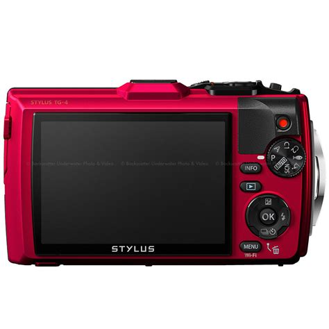 Olympus Tough TG-4 iHS Waterproof Compact Camera - Red