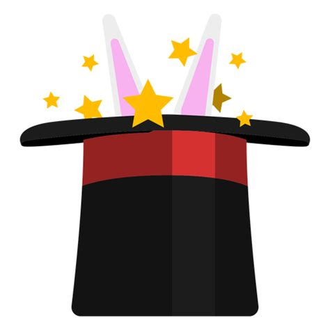 Rabbit in magician hat icon - Transparent PNG & SVG vector