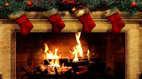 Merry Christmas Fireplace with Crackling Fire Sounds (HD
