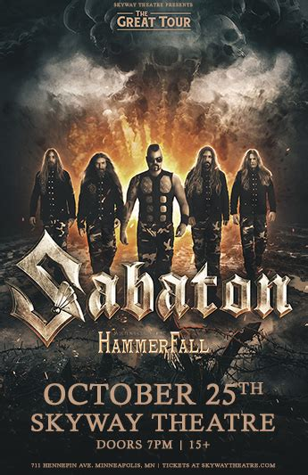SOLD OUT - Sabaton — Skyway Theatre