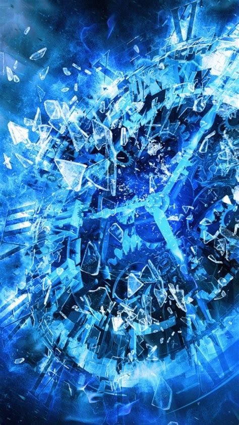 Cool blue abstract wallpaper   (44723)