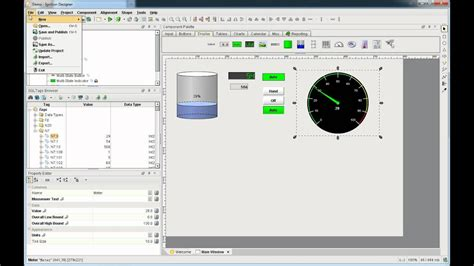 How to create an HMI Screen using Ignition Web-Based JAVA