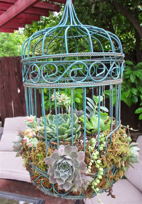 Bird Cage Planters Are Fun And Eye-catching Decor For Your