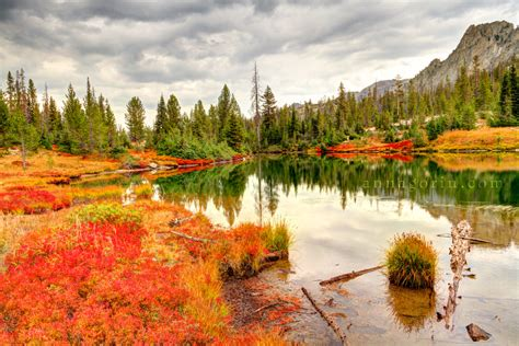 Autumn by the lake in Stanley, Idaho :: HDR :: Anna Gorin