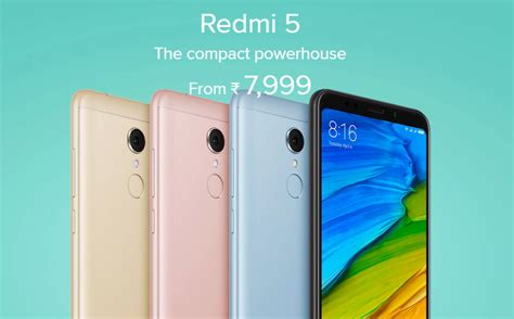 Xiaomi Redmi 5 launched in India for Rs 7,999