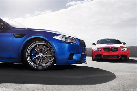 M Brothers Pose Together: BMW M3 and M5 Riding on HRE
