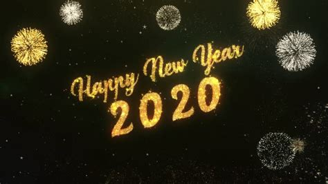 Happy New Year 2020 Greeting Stock Footage Video (100%